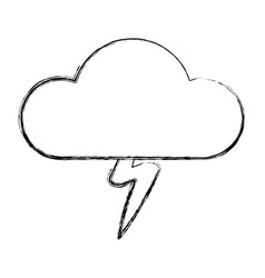 cloud with rain symbol vector image vector image