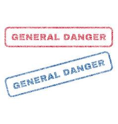 general danger textile stamps vector image