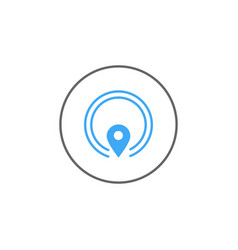 gps solid icon mobile sign and map pointer vector image vector image