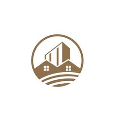 House building design logo vector