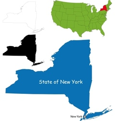 New york map vector image vector image