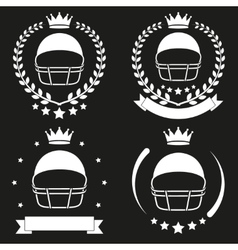 Set of Vintage Football Club Badge and Label vector image vector image