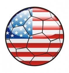 flag of America on soccer ball vector image