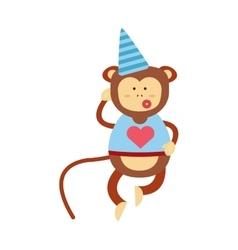 monkey icon vector image