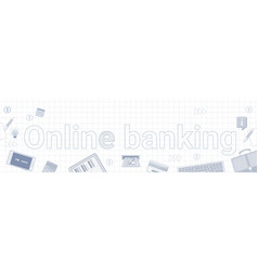 online banking internet electronic payment banner vector image vector image
