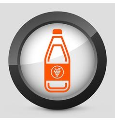 orange and gray elegant glossy icon vector image