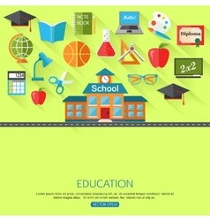 School and education concept background with place vector image vector image