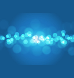 abstract blue light bokeh blur background vector image