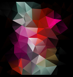 Abstract polygon square background black red pink vector