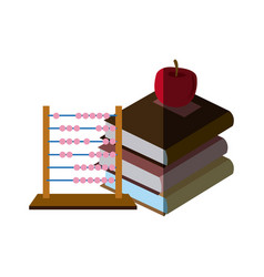 Back to school books apple abacus elements vector