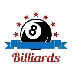 Billiard sport symbol vector image