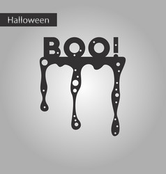Black and white style icon halloween boo vector