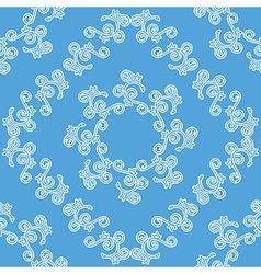 blue and white seamless decorative pattern vector image