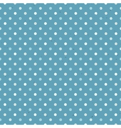 blue seamless polka dot pattern textured vector image