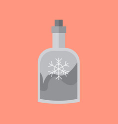 bottle drink snowflake decoration vector image