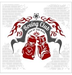 Boxing emblem stock vector