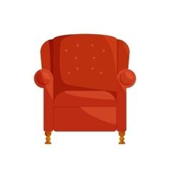 Brown armchair icon cartoon style vector