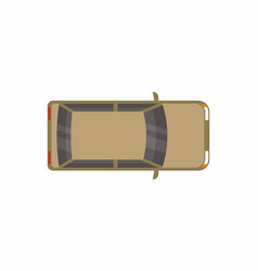 brown hatchback car top view vector image
