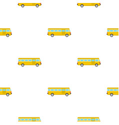 Bus pattern flat vector