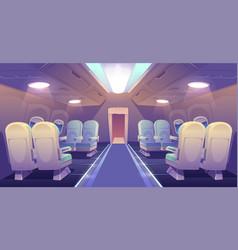 Business class in plane private jet empty interior vector
