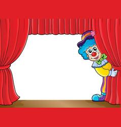 Clown thematics image 3 vector