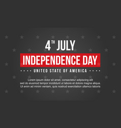 Collection stock independence day vector