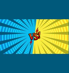 Comic versus dueling background vector