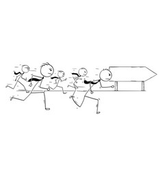 Conceptual cartoon of competition in business vector