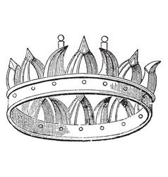 Corona navalis vintage engraving vector