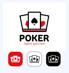 Crown and ace spades to design poker logo vector
