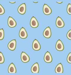 Cute avocado blue pattern minimalist vector