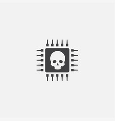 Cyber crime base icon simple sign vector