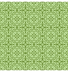 Decorative green pattern vector