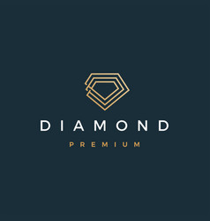 diamond logo icon vector image