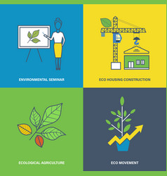 Environmental projects environmental growth vector