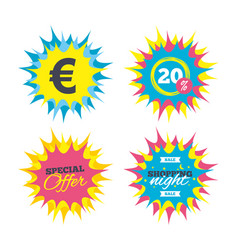 euro sign icon eur currency symbol vector image