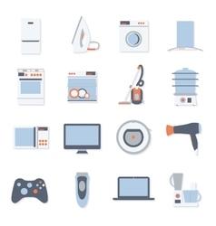 flat design set icons home appliances vector image