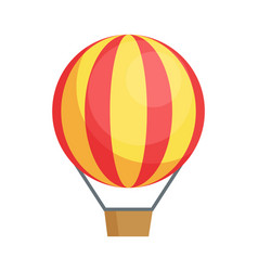 Flying airballon poster air transport icon vector