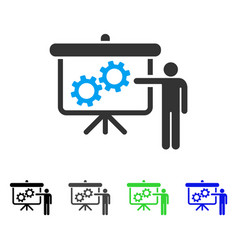 Gears presentation lecture flat icon vector