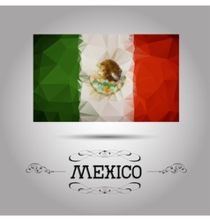 geometric polygonal Mexico flag vector image