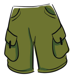 green shorts on white background vector image