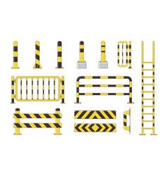 Guard post sentry yellow and black bollard icon vector