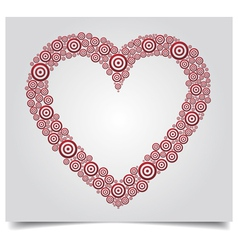 heart red circle vector image