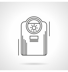 Heating appliances flat line icon vector image