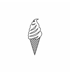 Ice Cream icon outline style vector image
