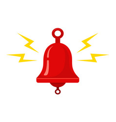Icon red metallic bell vector