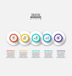infographic design template business vector image
