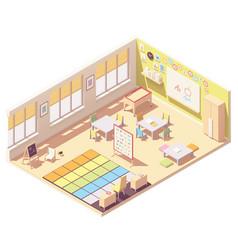 Isometric kindergarten preschool classroom vector