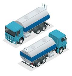 isometric tanker truck petroleum tanker vector image