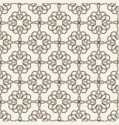 Lacy seamless pattern on floral theme vector
